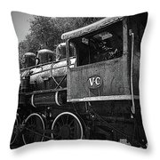 Antique Loco Throw Pillow