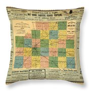 Antique Map Of The Mclean County - Business Advertisements - Historical Map Throw Pillow