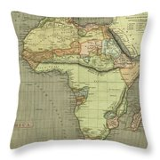 Antique Maps - Old Cartographic Maps - Antique Map Of Africa Throw Pillow
