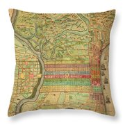 Antique Maps - Old Cartographic Maps - Antique Map Of Philadelphia, Pennsylvania, 1802 Throw Pillow