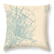 Antique Maps - Old Cartographic Maps - Antique Map Of Travis County, Texas, 1936 Throw Pillow