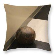 Antique Medicine Ball Throw Pillow