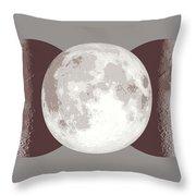 Antique Moon Throw Pillow