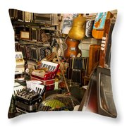 Antique Music Store Throw Pillow