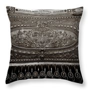 Antique Ncr - Sepia Throw Pillow