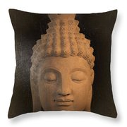 antique oil effect Buddha Sukhothai Throw Pillow