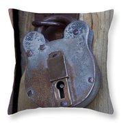 Antique Padlock 1 Throw Pillow
