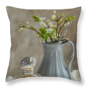 Antique Perfume Bottle Throw Pillow