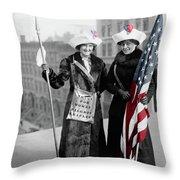 Antique Photo Of Two Women Throw Pillow