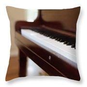 Antique Piano Throw Pillow