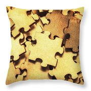 Antique Puzzle Of Missing Links Throw Pillow