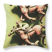 Antique Race Throw Pillow