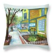 Antique Row In Kensington Md Throw Pillow