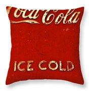 Antique Soda Cooler 6 Throw Pillow