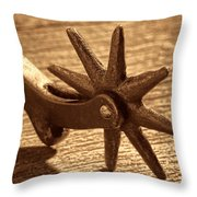 Antique Star Spur Throw Pillow