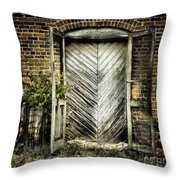 Antique Store Door Throw Pillow