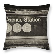 Antique Subway Entrance Throw Pillow by Dick Wood