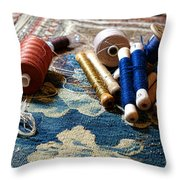 Antique Tapestry Repair  Throw Pillow