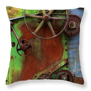 Antique Thrasher Throw Pillow