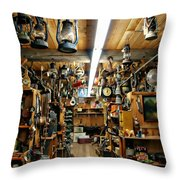 Antique Time Throw Pillow