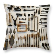 Antique Tools Throw Pillow