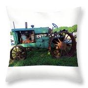 Antique Tractor 1 Throw Pillow