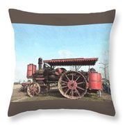 Antique Tractor - Rollag, Minnesota Throw Pillow