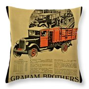 Antique Truck Poster Throw Pillow