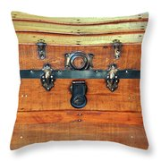 Antique Trunk Throw Pillow