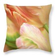Antique Tulips Throw Pillow