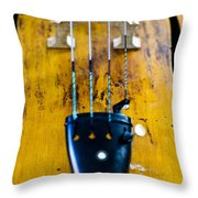 Antique Violin Throw Pillow