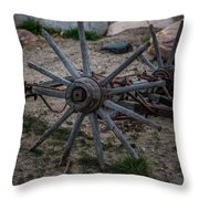 Antique Wagon Wheel Throw Pillow