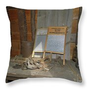 Antique Wash Boards Throw Pillow