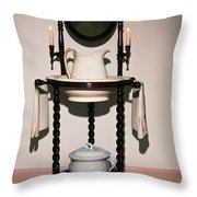 Antique Wash Stand Throw Pillow