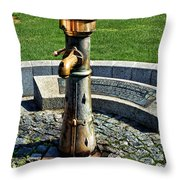 Antique Water Fountain Throw Pillow