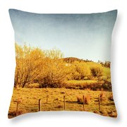 Antique Weathered Countryside Throw Pillow