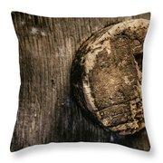 Antique Wine Barrel Cork Throw Pillow
