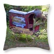 Antique Wine Wagon Throw Pillow