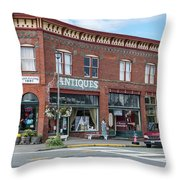 Antiques In Red Brick Throw Pillow