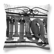 Antiques Store Sign Throw Pillow
