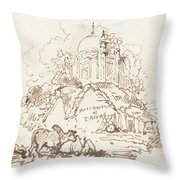 Antiquities Of Dacca Throw Pillow
