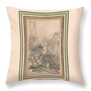 Antiquities Of Egypt Throw Pillow