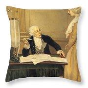 Antoine-laurent Lavoisier Throw Pillow