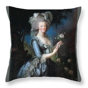Antoinette With The Rose Marie Throw Pillow