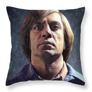 Anton Chigurh Throw Pillow