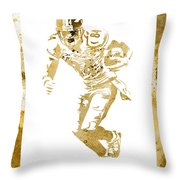 Antonio Brown Pittsburgh Steelers Water Color Art 4 Throw Pillow