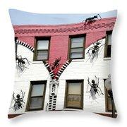 Ants At Zipperhead Throw Pillow