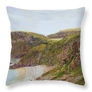 Antsey's Cove South Devon Throw Pillow