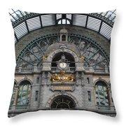 Antwerp Train Throw Pillow