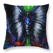 Anxious Butterfly Throw Pillow